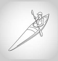 Kayaking logo icon vector