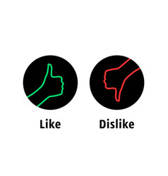like or dislike round simple logo vector image