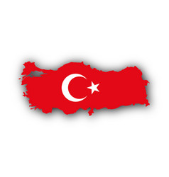 Map and flag of turkey vector