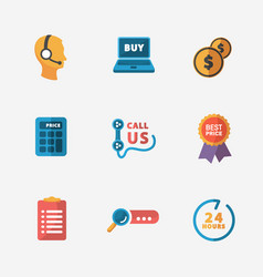 Modern colorful shop icons on black vector