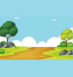 Outdoor landscape background scene vector