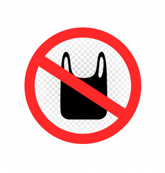 Polyethylene packaging is prohibited vector