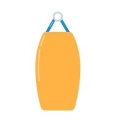 Punching bag flat vector image
