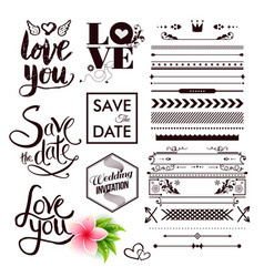 save the date and all you need is love labels vector image