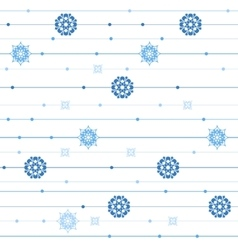 seamless pattern with stripes snowflakes vector image