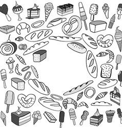 Set of ice-cream vector image