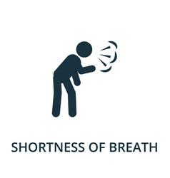 Shortness breath icon simple from coronavirus vector