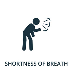Shortness of breath icon simple from coronavirus vector