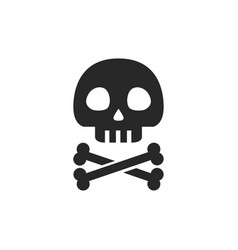 skull with crossbones icon vector image