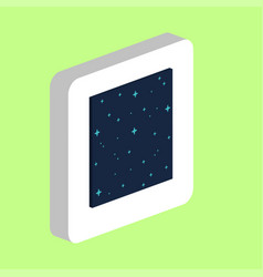 starry night computer symbol for your business vector image