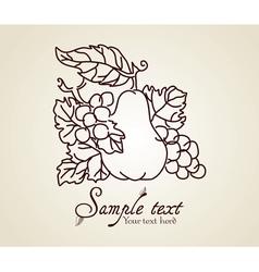 Vintage fruits vector image