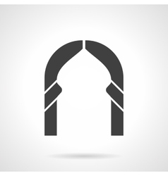 Abstract lancet arch glyph style icon vector