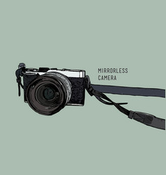 camera vintage and classic style mirrorless vector image