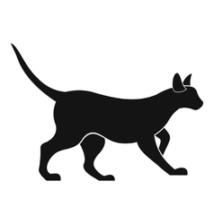 Cat icon simple style vector image vector image