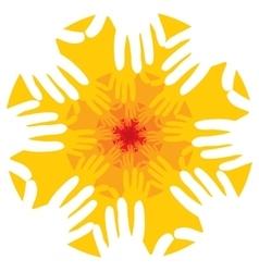 Hands fractal or mandala vector image vector image