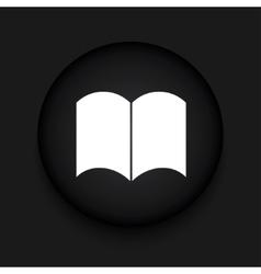modern book black circle icon vector image