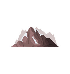 mountain peaks with snow ice tops outdoor design vector image vector image