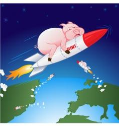 swine flu hen vector image vector image