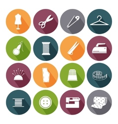 Tailor icons for sewing vector image vector image