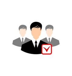 Avatar set front portrait office employee team for vector image vector image