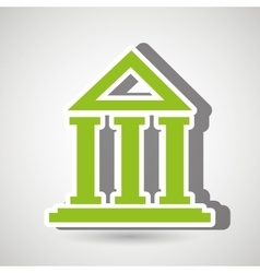 bank building isolated icon design vector image