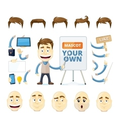 businessman creation kit vector image