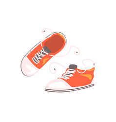 comfortable sportive footwear pair part of rider vector image vector image