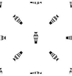 egyptian vase pattern seamless black vector image