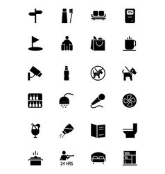 Hotel and Restaurant Icons 7 vector image vector image