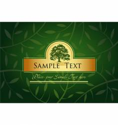 label or menu cover vector image vector image