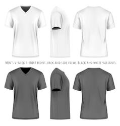 Men short sleeve v-neck t-shirt vector image vector image
