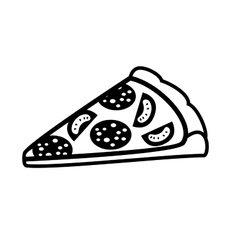 piece of pizza vector image vector image