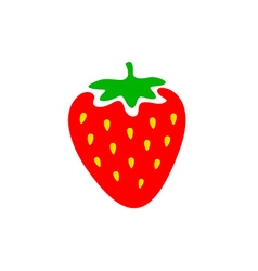 Strawberry colorful logo Strawberry cartoon style vector image vector image