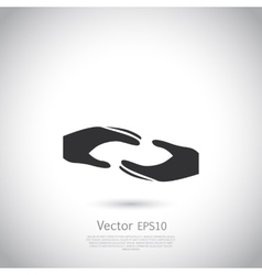 Two hands symbol sign icon logo template for vector image vector image