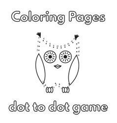cartoon owl coloring book vector image vector image