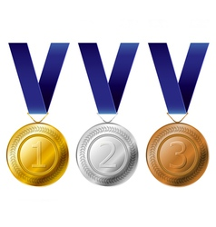 Medal award set vector image vector image