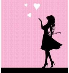 Pink love vector