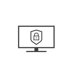 privacy data protection and internet vpn shield vector image