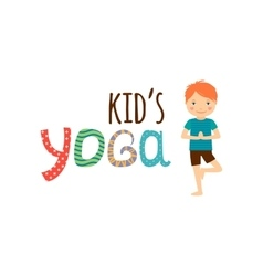 Yoga for kids isolated logo design vector image vector image