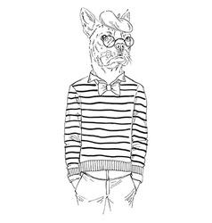 Anthropomorphic design vector image