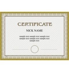 Certificate diploma for print vector