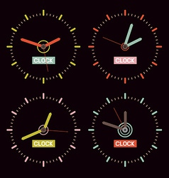Clock on Black Background vector image vector image