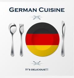 german cuisine cutlery vector image vector image