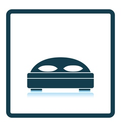 Hotel bed icon vector image vector image