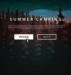 Nature and landscape Summer landscape of nature vector image vector image