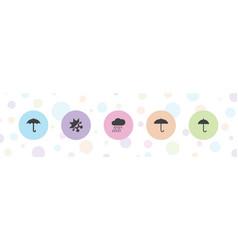 5 meteorology icons vector