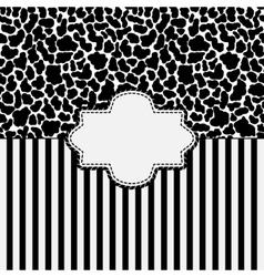 animal skin background vector image