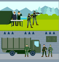 army force horizontal banners vector image vector image