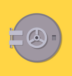bank vault safe door vector image
