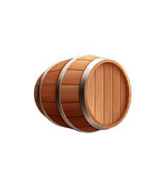 Barrel beer keg composition vector